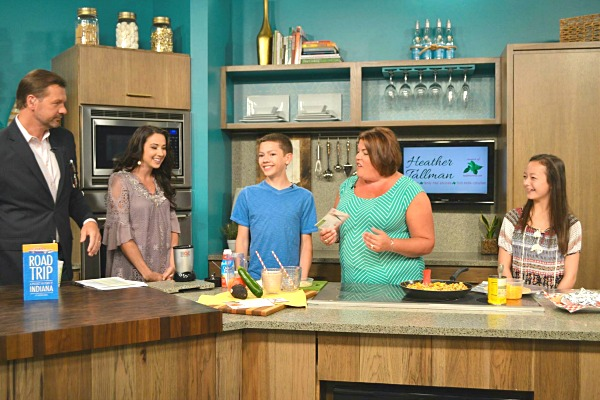 The cast of IndyStyle and @basilmomma preparing easy summer recipes that even kids can make!