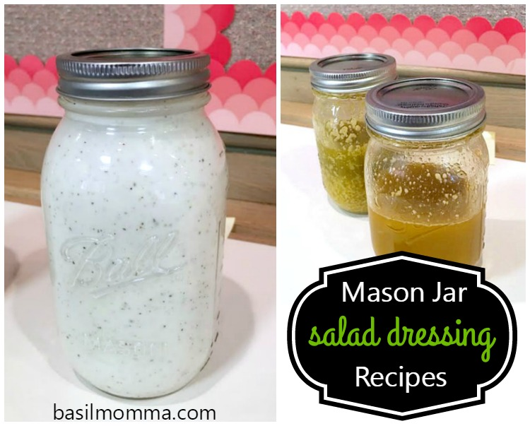 Mason Jar Salad Dressings - Get 6 different mason jar dressing recipes from @basilmomma