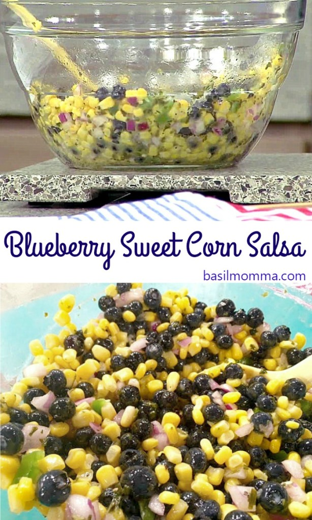 Blueberry Sweet Corn Salsa - Get the recipe from @basilmomma on basilmomma.com