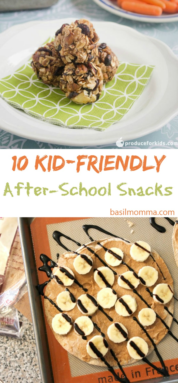 10 Easy, Kid-Friendly After-School Snacks - Get the recipes from @basilmomma on basilmomma.com