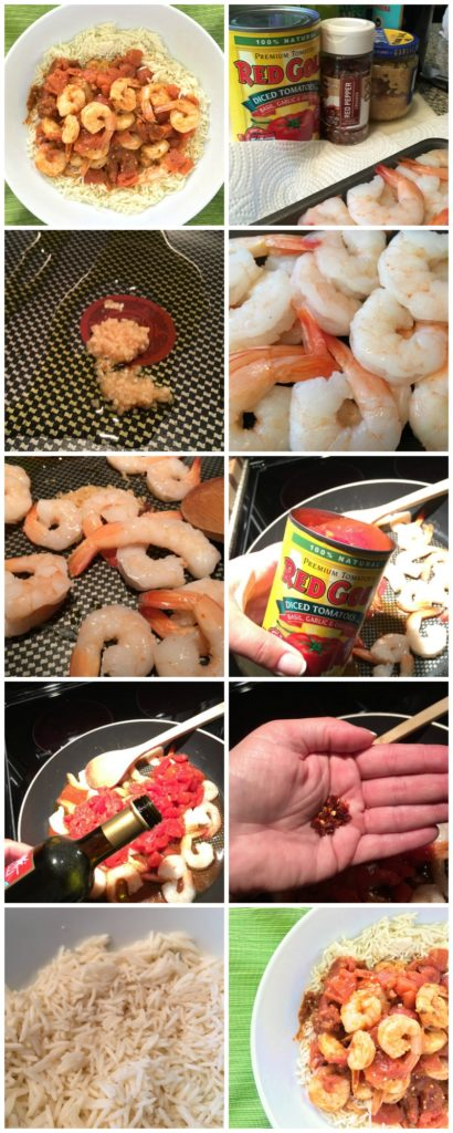 Spicy Red Pepper Shrimp - A healthy dinner with just 5 ingredients and in less than 15 minutes! The quickest weeknight dinner recipe ever!