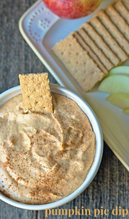 Pumpkin pie dessert dip tastes like homemade pumpkin pie, without the crust. Fluffy, creamy, sweet, this dip recipe may become a new Thanksgiving favorite! | Recipe on basilmomma.com