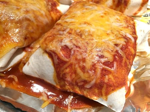 Red Sauce Smothered Burritos {Instant Pot Recipe} - Chile Colorado Smothered Burritos, made in a pressure cooker or Instant Pot! | Recipe on basilmomma.com