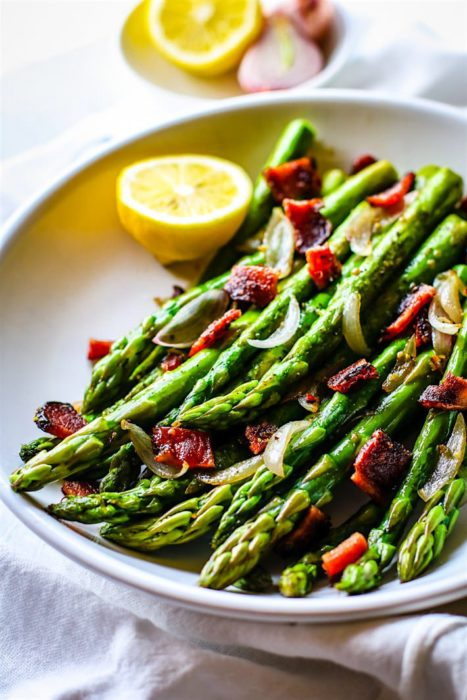 Peppered Candied Bacon and Asparagus | CotterCrunch.com