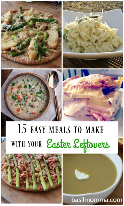 Easter leftovers? Here are quick and easy weeknight dinner recipes to help you use up heaps of ham, an abundance of asparagus, and endless hard boiled eggs! | basilmomma.com
