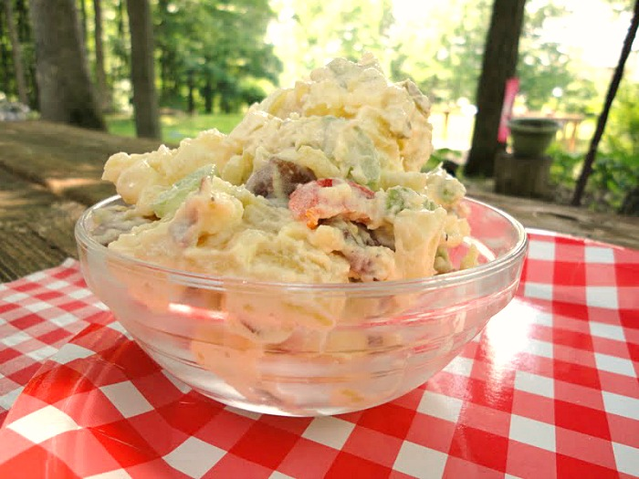 The best potato salad is creamy, with the perfect ratio of potatoes to dressing. This easy recipe has great flavor and crunch from celery and bell peppers.
