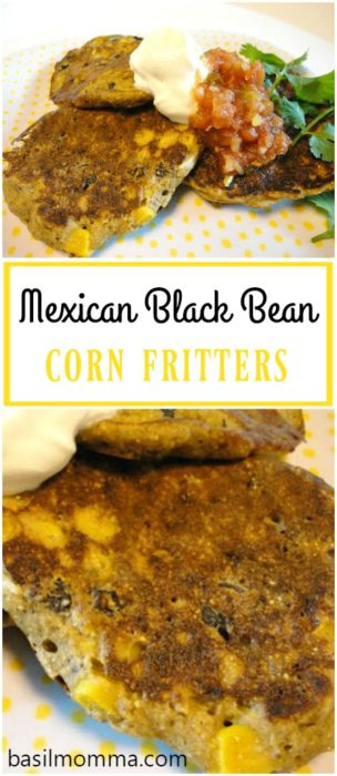 Mexican Black Bean Corn Fritters | Easy Griddle Cakes | Side Dish Recipe | Vegetarian | Basilmomma