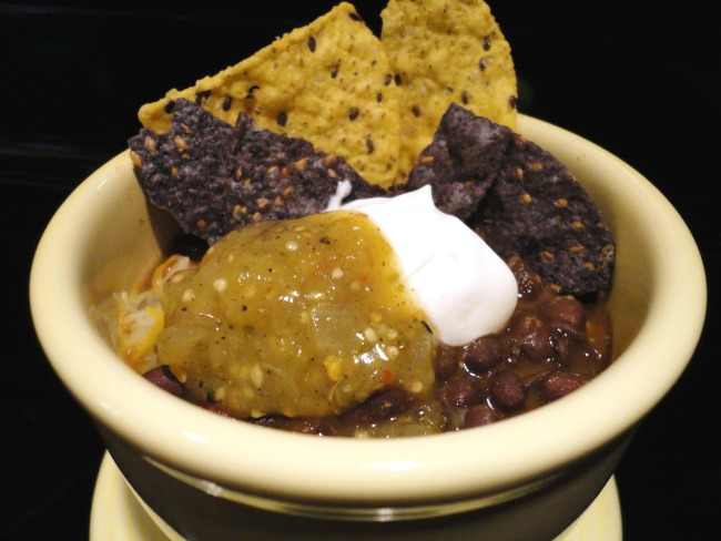 Crock Pot Black Bean Soup - black bean soup with chorizo, made in a slow cooker