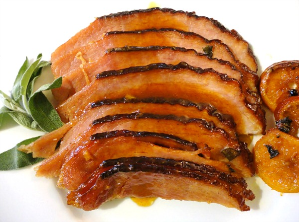 Tangerine glazed ham - perfect to serve for Easter dinner or any Sunday brunch.