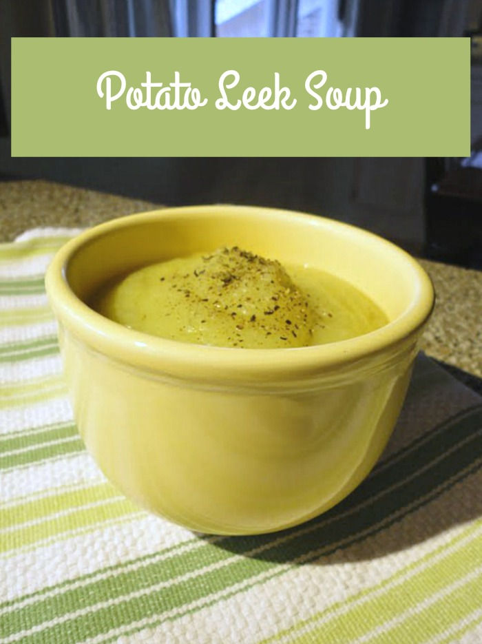 This easy potato leek soup recipe is adapted from a Julia Child recipe. This quick soup comes together in about 20 minutes! The perfect easy weeknight meal.