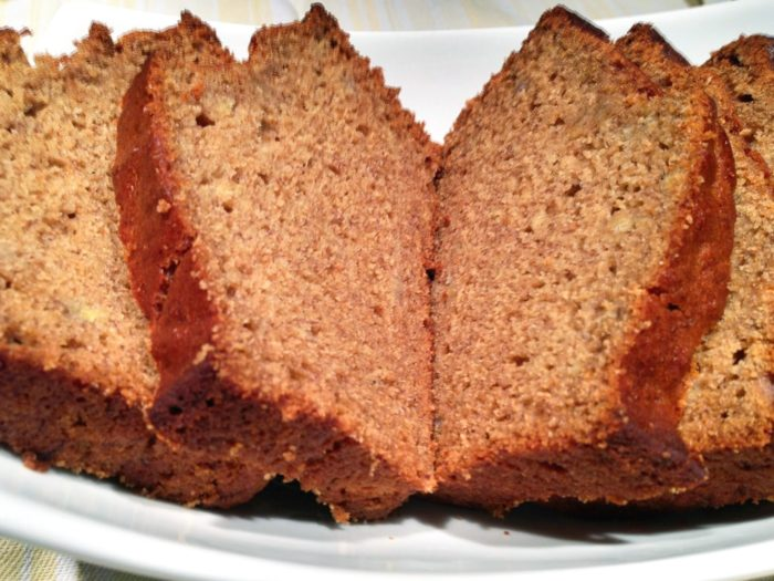healthier banana bread, made with agave